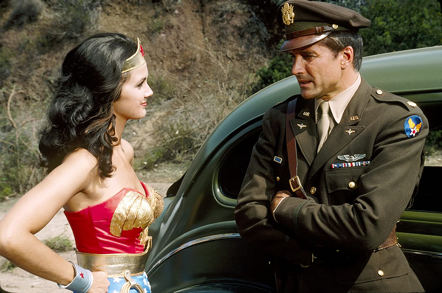 Lynda Carter and Lyle Waggoner in Wonder Woman (1975)