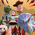 Tom Hanks, Tim Allen, Wallace Shawn, Kristen Schaal, and Emma Hudak in Toy Story That Time Forgot (2014)