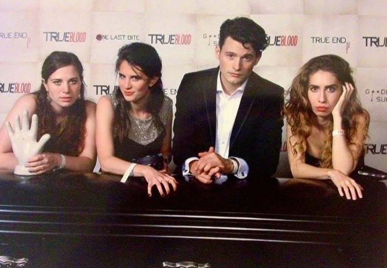 Natasha Belmont Rose, Amelia Rose Blaire, Bryan Dechart and Grace Folsom at thee True Blood after party