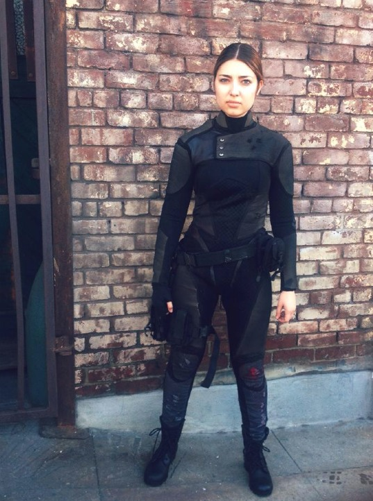 Shelby Young as Ryder Tate behind the scenes of #Hacked
