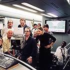 Jodie Foster, Florian Ballhaus, Thom Noble, and Robert Schwentke in Flightplan (2005)