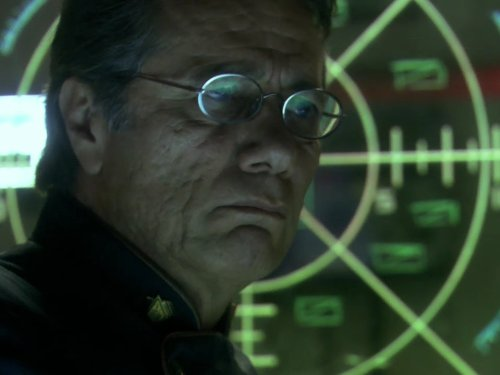 Edward James Olmos in Battlestar Galactica (2004)