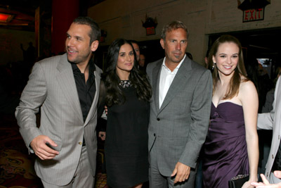 Kevin Costner, Demi Moore, Dane Cook, and Danielle Panabaker at an event for Mr. Brooks (2007)