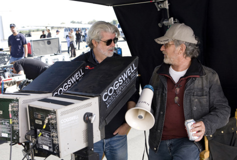 George Lucas and Steven Spielberg in Indiana Jones and the Kingdom of the Crystal Skull (2008)