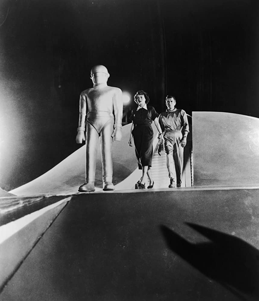 Lock Martin, Patricia Neal, and Michael Rennie in The Day the Earth Stood Still (1951)