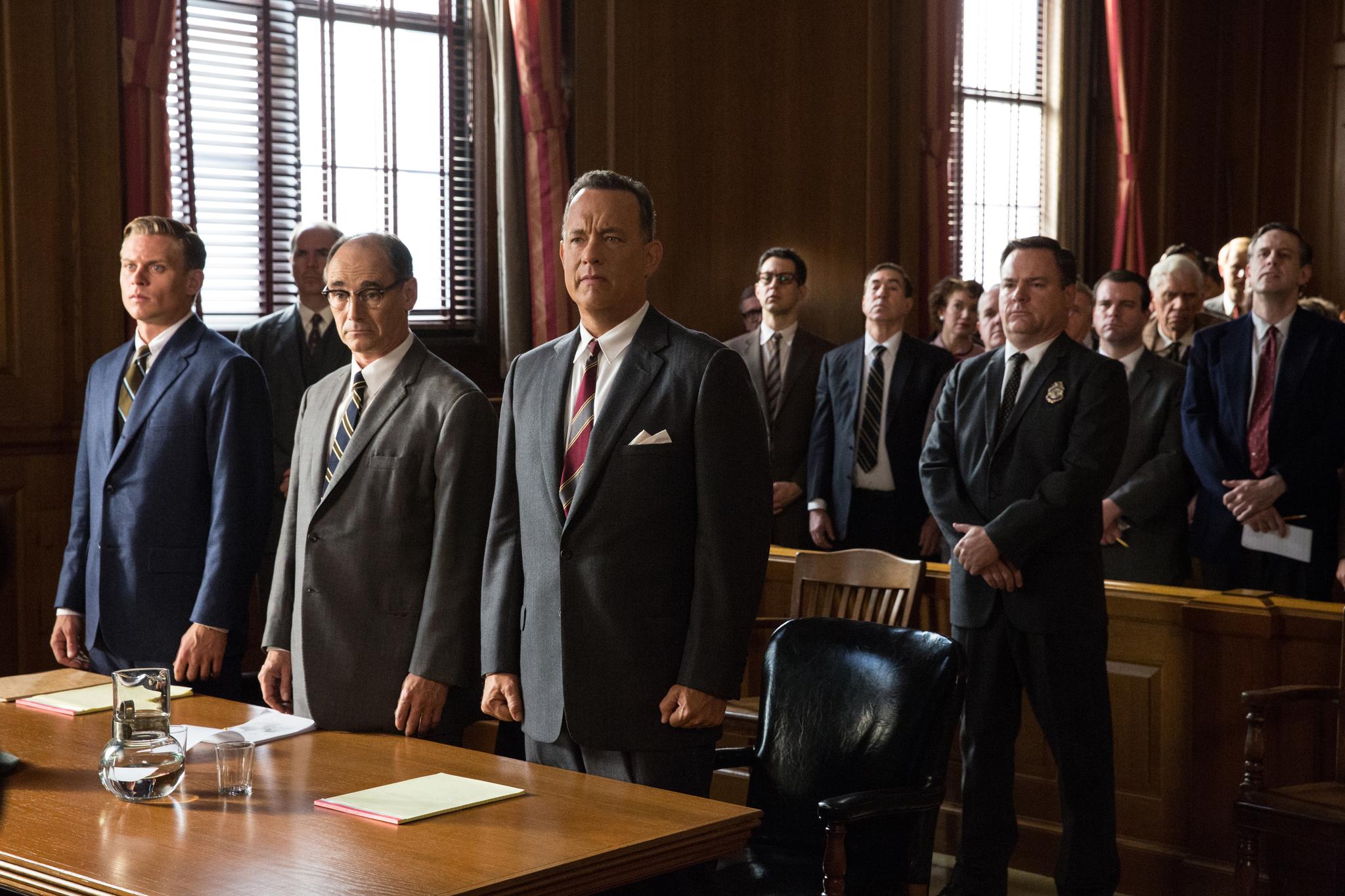 Tom Hanks, Mark Rylance, and Billy Magnussen in Bridge of Spies (2015)