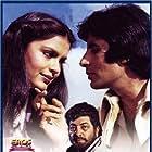Amitabh Bachchan, Zeenat Aman, and Amjad Khan in Laawaris (1981)
