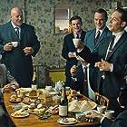 Adam Fogerty, Tom Hardy, Mel Raido, Chris Mason, Charley Palmer Rothwell, and Taron Egerton in Legend (2015)