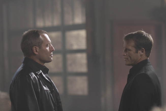 Douglas O'Keeffe and Mark Valley in Human Target (2010)