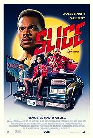 Paul Scheer, Rae Gray, Chance the Rapper, and Zazie Beetz in Slice (2018)