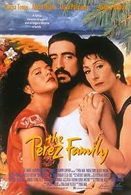 Alfred Molina, Marisa Tomei, and Anjelica Huston in The Perez Family (1995)
