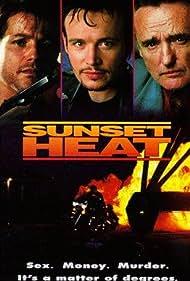Dennis Hopper, Michael Paré, and Adam Ant in Sunset Heat (1992)