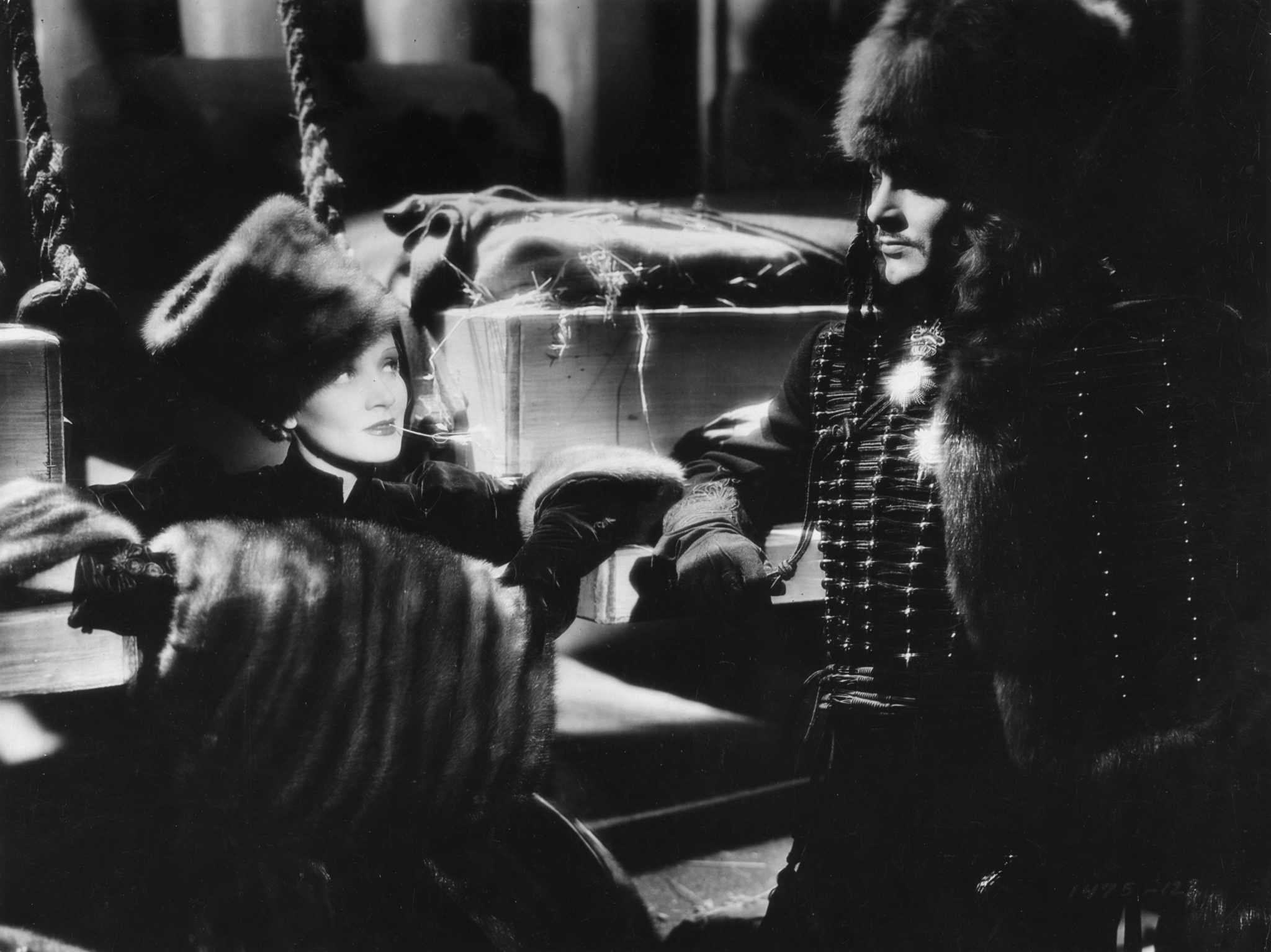 Marlene Dietrich and John Lodge in The Scarlet Empress (1934)