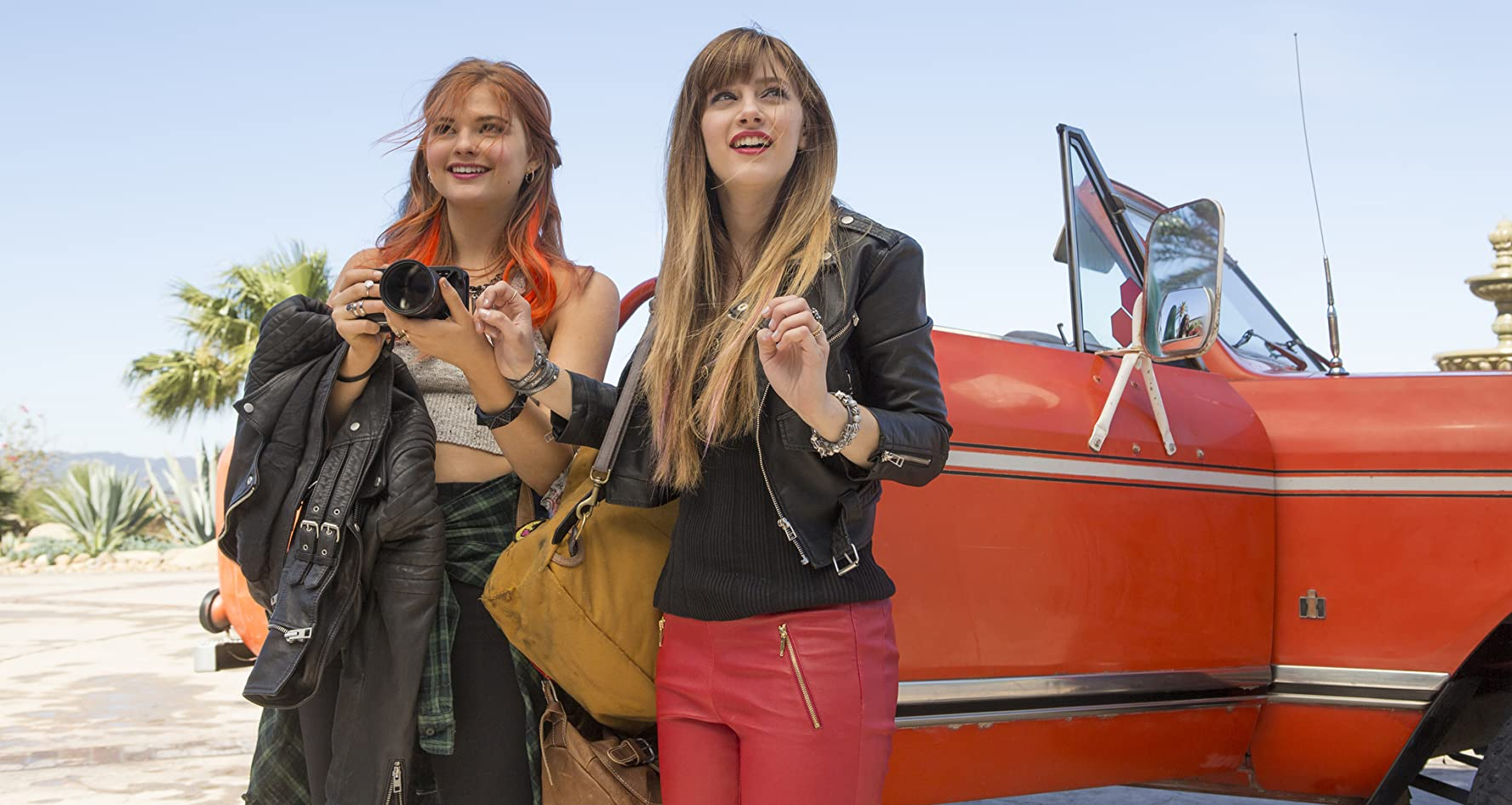 Stefanie Scott and Aubrey Peeples in Jem and the Holograms (2015)