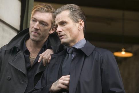 Viggo Mortensen and Vincent Cassel in Eastern Promises (2007)