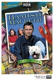 Robert Carlyle, Valerie Gogan, and Shirley Henderson in Hamish Macbeth (1995)