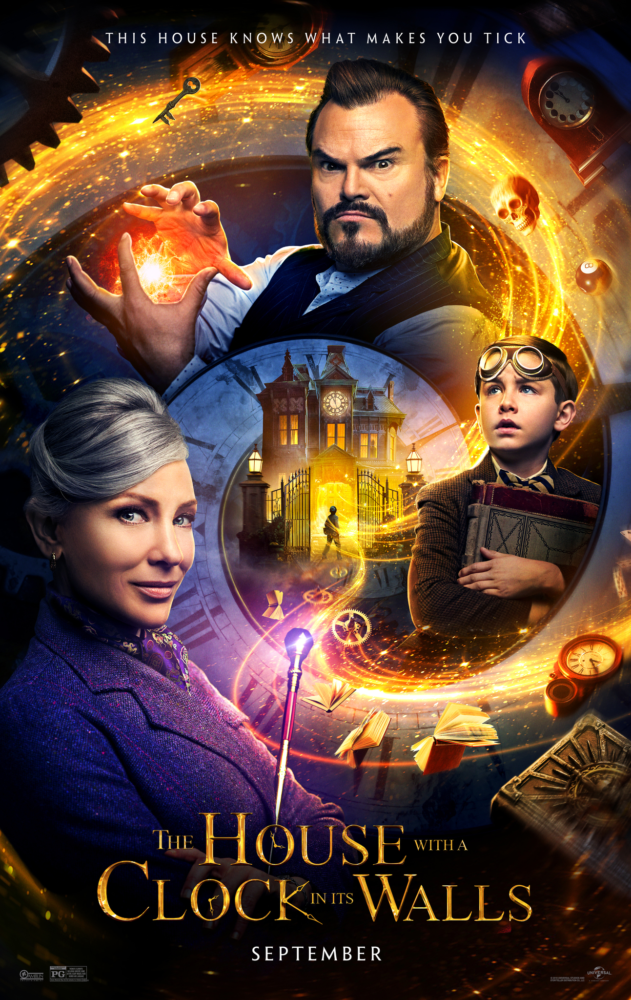 Image result for the house with a clock in its walls movie poster