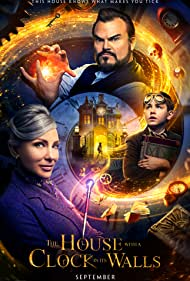 Cate Blanchett, Jack Black, and Owen Vaccaro in The House with a Clock in Its Walls (2018)