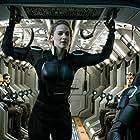 Rose Byrne, Nicholas Hoult, Evan Peters, Jennifer Lawrence, Sophie Turner, and Tye Sheridan in X-Men: Apocalypse (2016)