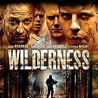 Sean Pertwee, Alex Reid, Toby Kebbell, and Stephen Wight in Wilderness (2006)