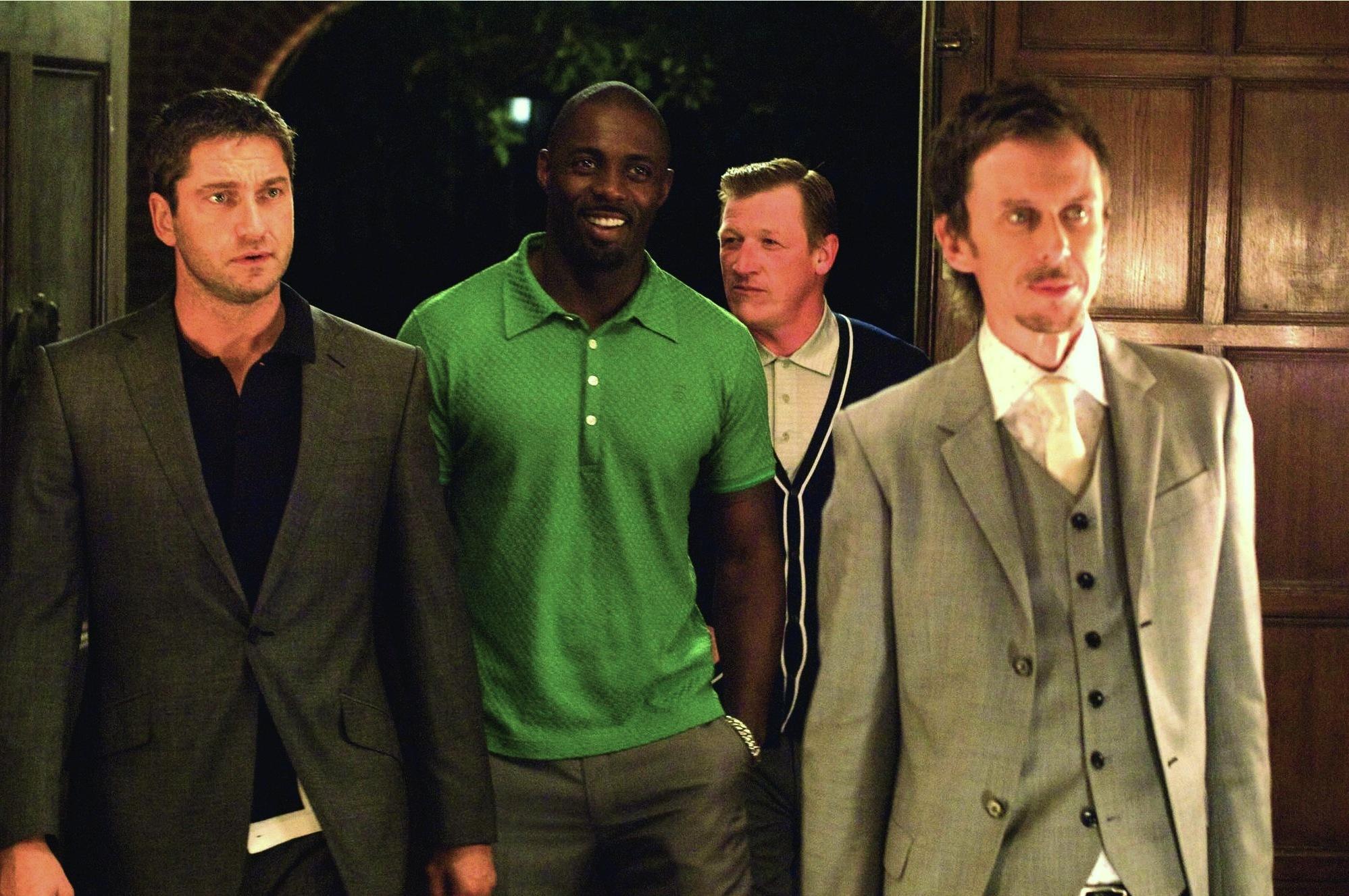 Gerard Butler, Idris Elba, and Geoff Bell in RocknRolla (2008)