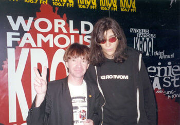 Rodney Bingenheimer and Joey Ramone in Mayor of the Sunset Strip (2003)