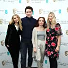 Juno Temple, Edith Bowman, Josh O'Connor, and Florence Pugh at an event for The EE British Academy Film Awards (2018)