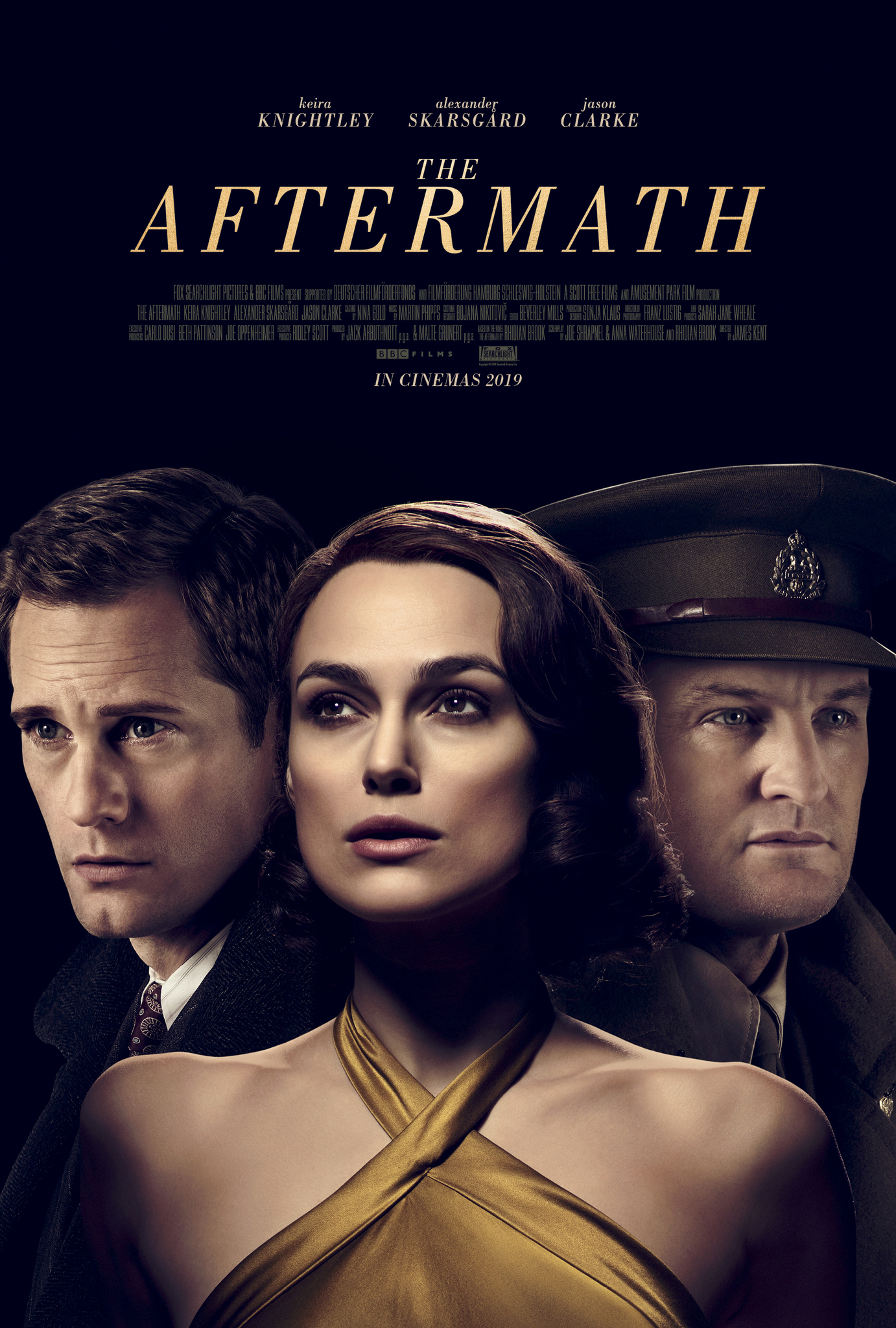 Alexander Skarsgård, Jason Clarke, and Keira Knightley in The Aftermath (2019)