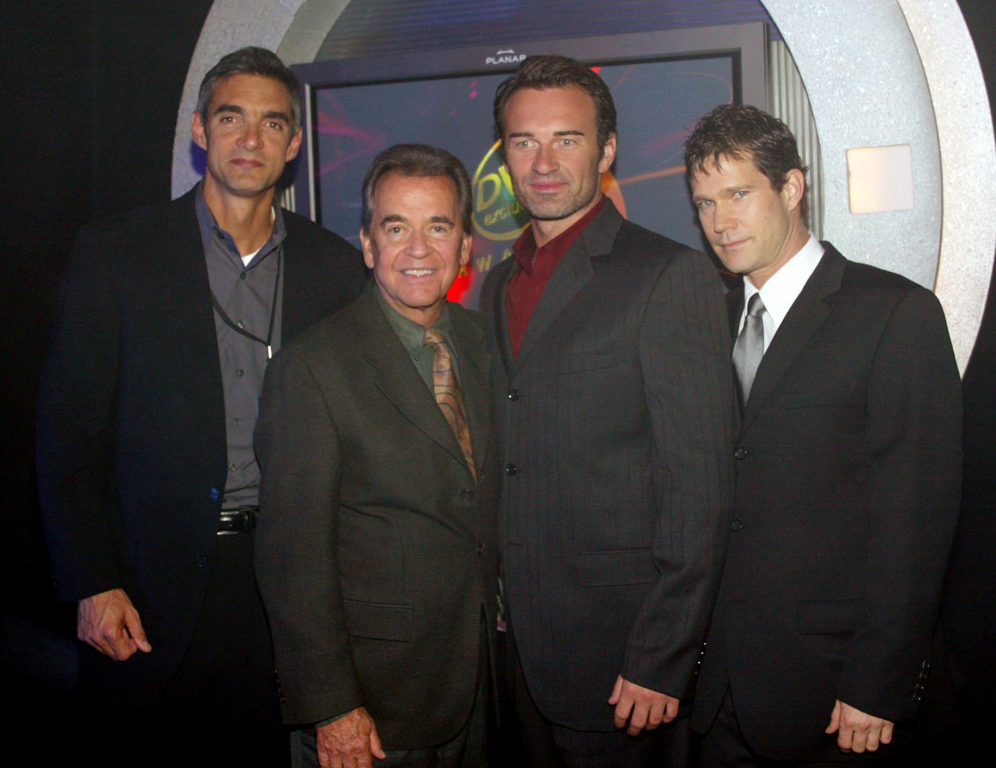 Dick Clark, Peter Liguori, Julian McMahon, and Dylan Walsh