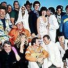 Adrienne Barbeau, Jackie Chan, Farrah Fawcett, Roger Moore, Burt Reynolds, Dom DeLuise, Jack Elam, Dean Martin, Sammy Davis Jr., Rick Aviles, Warren Berlinger, Tara Buckman, Bert Convy, Jamie Farr, Michael Hui, Joe Klecko, Hal Needham, Mel Tillis, and Alfie Wise in The Cannonball Run (1981)