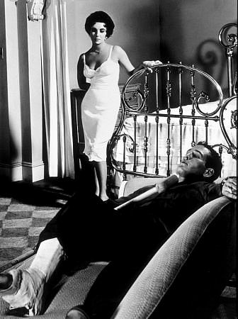 """Cat On A Hot Tin Roof,"" Elizabeth Taylor & Paul Newman."
