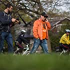 Theo Fleury on Day 1 of the Victor Walk, walking from Toronto to Ottawa in 10 days over 250miles/400kilometers to bring awareness about child sexual abuse. Director Michael David Lynch follows behind filming the documentary.