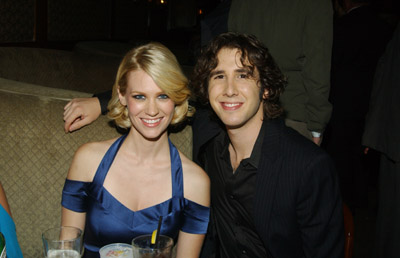 January Jones and Josh Groban at an event for The Three Burials of Melquiades Estrada (2005)