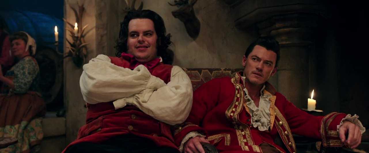 Josh Gad and Luke Evans in Beauty and the Beast (2017)