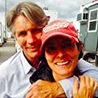 """Eric Roberts and Director Mairzee Almas on the set of """"Lost Girl"""""""