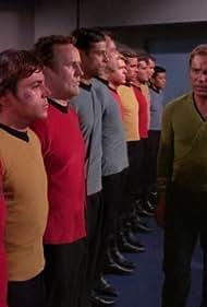 Walter Koenig, Colm Meaney, William Shatner, James Doohan, and Alexander Siddig in Star Trek: Deep Space Nine (1993)