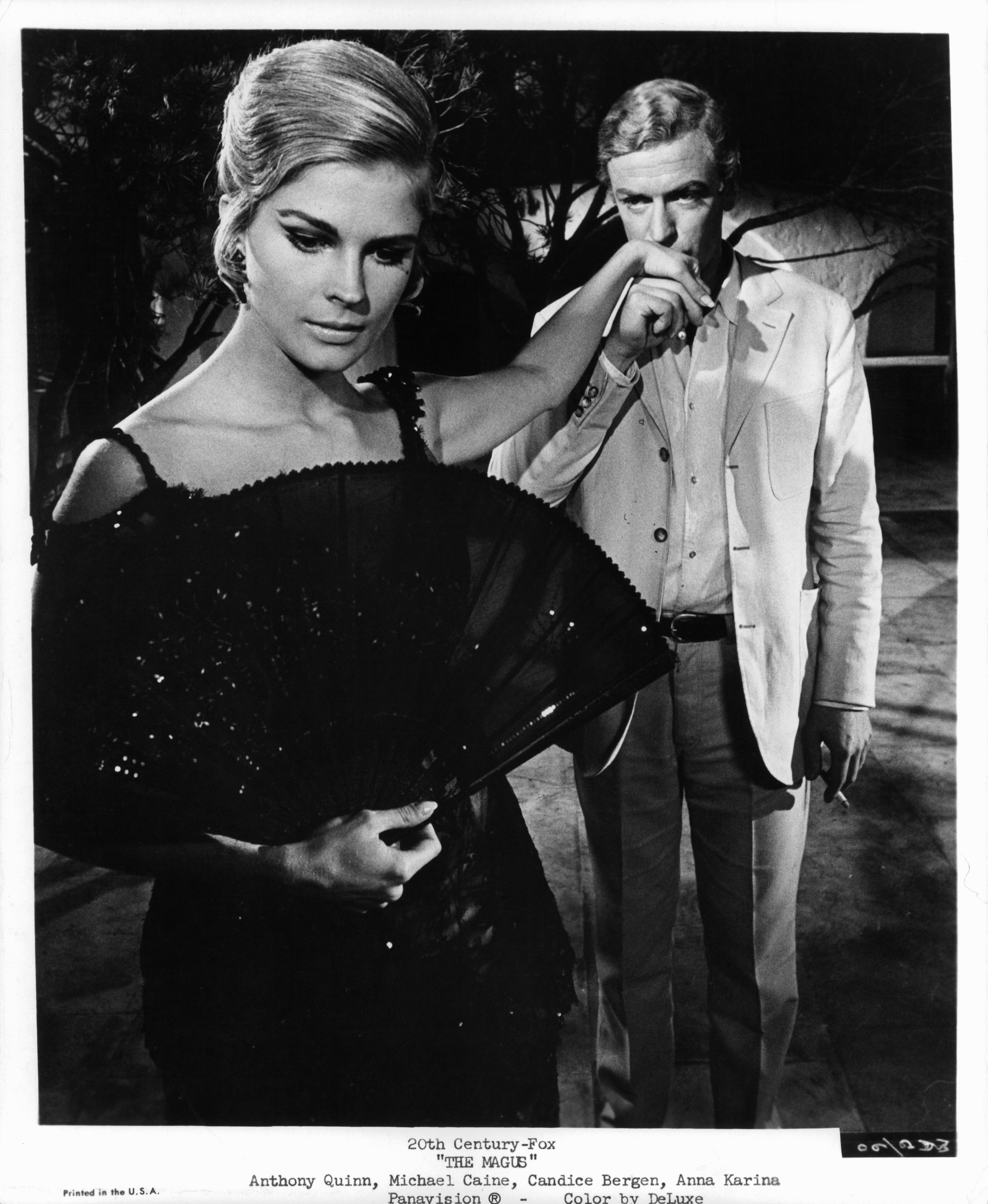 Candice Bergen and Michael Caine in The Magus (1968)
