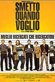 Paolo Calabresi, Libero De Rienzo, Lorenzo Lavia, Edoardo Leo, Pietro Sermonti, Valerio Aprea, and Stefano Fresi in Smetto quando voglio (2014)