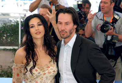 Keanu Reeves and Monica Bellucci at an event for The Matrix Reloaded (2003)