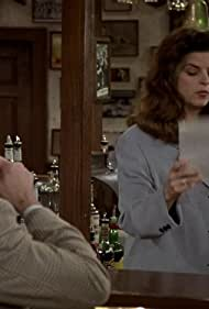 Kirstie Alley, Kelsey Grammer, and John Ratzenberger in Cheers (1982)