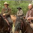 Robert Urich, Jerry Biggs, and Julius Tennon in Lonesome Dove (1989)