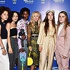 Crystal Moselle, Rachelle Vinberg, Nina Moran, Ajani Russell, Jules Lorenzo, Brenn Lorenzo, and Kabrina Adams at an event for Skate Kitchen (2018)