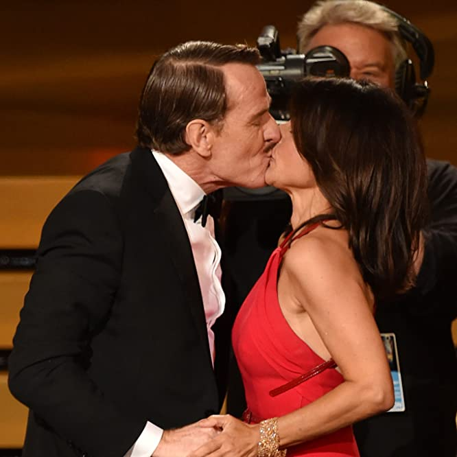Julia Louis-Dreyfus and Bryan Cranston at an event for The 66th Primetime Emmy Awards (2014)