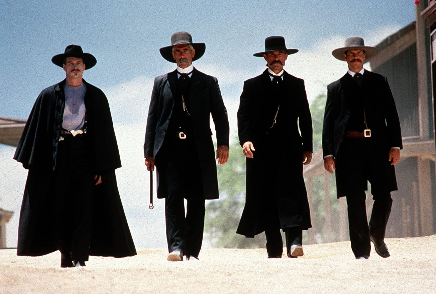 Val Kilmer Bill Paxton Sam Elliott and Kurt Russell in Tombstone 1993