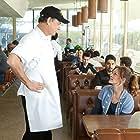 Tom Hanks, Julia Roberts, and Wilmer Valderrama in Larry Crowne (2011)
