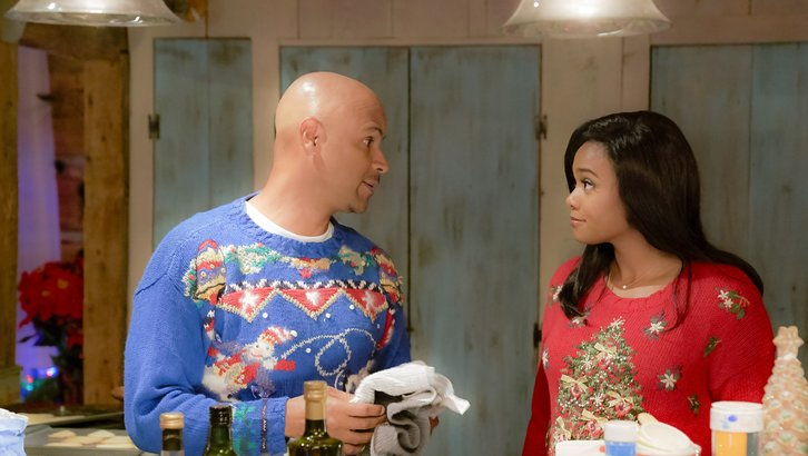 Tatyana Ali and Dondré T. Whitfield in Christmas Everlasting (2018)