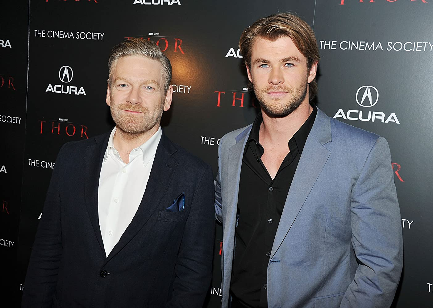 Kenneth Branagh and Chris Hemsworth at an event for Thor (2011)