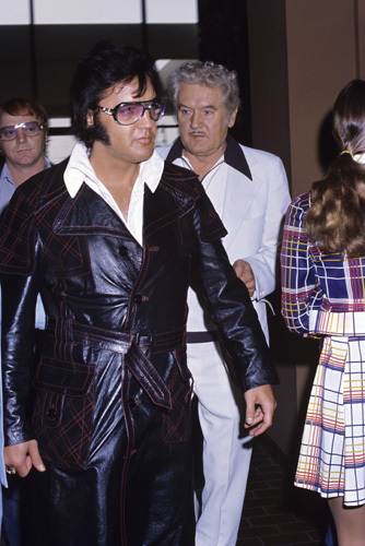 Elvis Presley with Red West and father Vernon circa 1970s