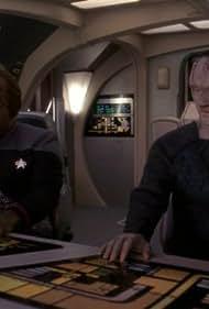 Michael Dorn and Andrew Robinson in Star Trek: Deep Space Nine (1993)