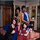 Valerie Bertinelli, Bonnie Franklin, Pat Harrington Jr., Mackenzie Phillips, and Mary Louise Wilson in One Day at a Time (1975)